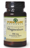 Минералы Form Labs Naturals Chelated Magnesium, 60 таб (48775)