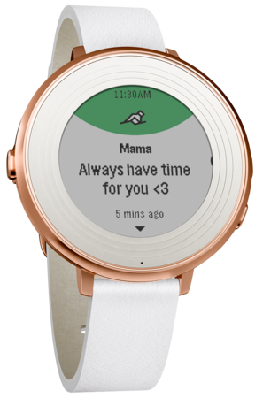 Умные часы Pebble Time Round 14mm band (Silver with Stone Leather)