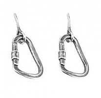 Серьги Rock Empire Earrings Silver Carabiner (ZPJ001)
