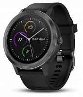 Умные часы с GPS Garmin Vivoactive 3 Black with Slate Hardware (010-01769-12)