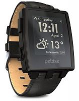 Умные часы Pebble Steel (Black Matte)