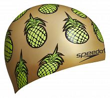 Шапочка для плавания Speedo Junior Slogan Cap gold (8-08386A851)