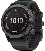 Спортивные часы Garmin Fenix 6X Pro Solar Edition Slate Gray With Black Band (010-02410-15)