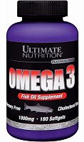 Рыбий жир Ultimate Nutrition Omega 3, 180 капс (104804)