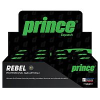 Мячи для сквоша Prince SQ Ball Rebel 2 Yellow, 12 шт