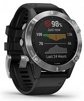 Спортивные часы Garmin Fenix 6 Silver with Black Band (010-02158-00)