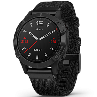 Спортивные часы Garmin Fenix 6 Black DLC with Heathered Black Nylon Band