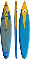 "Focus Sup доска Hawaii Airboard Inflatable 12'6 Х 30"" DST"