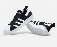Кроссовки Adidas Superstar Primeknit 80s Black White 0700