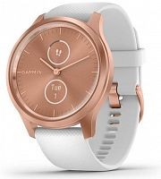 Спортивные часы Garmin vivomove Style Rose Gold-White Silicone (010-02240-20)