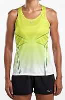 Женская майка Saucony Endorphin Singlet, lime punch/white print /SAW800253-LPWHP/