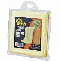 Губка и салфетка для чистки Weldtite Dirtwash Expanding Sponge and Microfibre Cloth (06040)