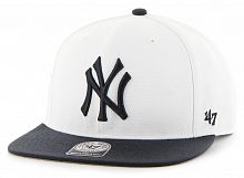 Кепка (snapback) 47 Brand Sure Shot Two Tone NY Yankees (SRSTT17WBP-WHB)