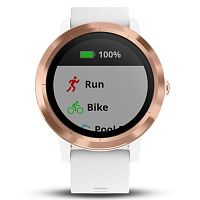 Умные часы с GPS Garmin Vivoactive 3 White with Rose Gold Hardware White (010-01769-07)