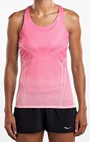 Женская майка Saucony Endorphin Singlet, salmon rose/english print /SAW800253-SAERP/