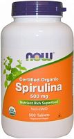 NOW Foods Spirulina 500 мг 500 таб (812069)