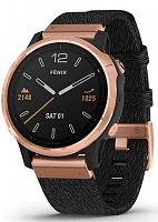 Спортивные часы Garmin Fenix 6S Rose Gold-tone with Heathered Black Nylon Band